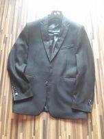 Czarny garnitur marynarka spodnie