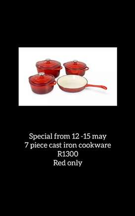 Cast iron cookware special