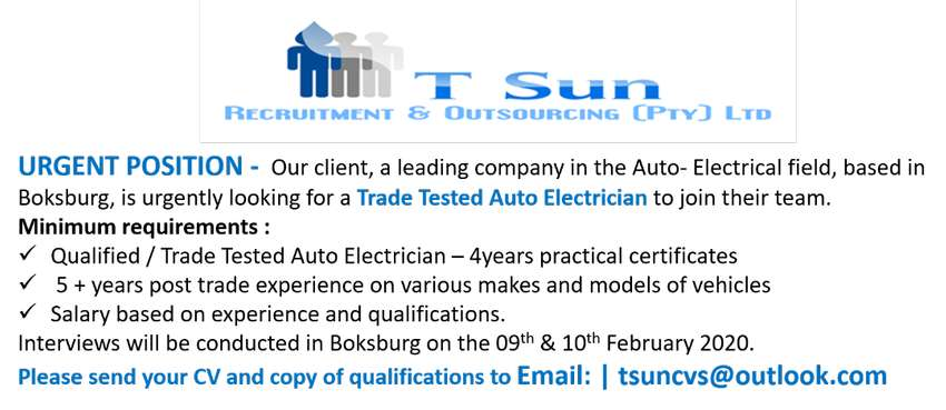 Trade Tested Auto Electrician
