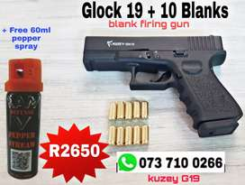 GLOCK 19 + 10 BLANKS + Free pepper spray