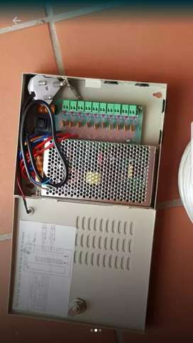 CCTV 10 way power supply 12v 10 amp