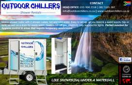 Shower hire, hot and cold water showers, trailer showers