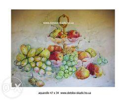 Картина акварель киев подарок на 8 марта, живопись, открытки ручной