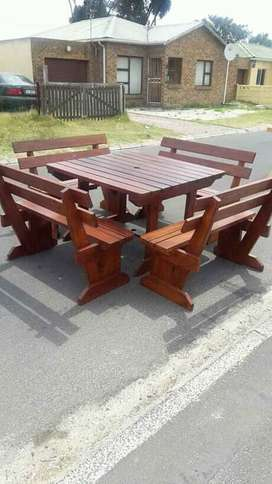 Wooden Benches, bar stools,  patio sets, dinning table sets