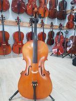 Nowa wiolonczela lutnicza - 30 letnie drewno - koncertowa! zestaw!