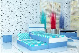Nowoczesne łóżko piętrowe dla dzieci z materacami w zestawie, 3 wymiar