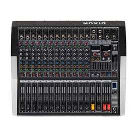 DIXON 12 Channel Powered Mixer with Bluetooth and USB