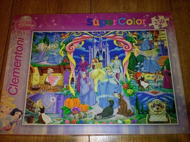PUZZLE Supercolor KOPCIUSZEK Disney Princess 250 el. CLEMENTONI Otwock - image 1