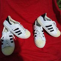 Кроссовки спортивные подростковые Adidas Superstar-39/40- jhbubyfk/26