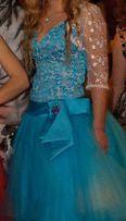 Голубое платье (юбка пачка из фатина снимается отдельно)