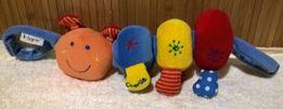 Mamas&Papas первые игрушки вибрация-музыка-зеркало-шуршалки-пищалки