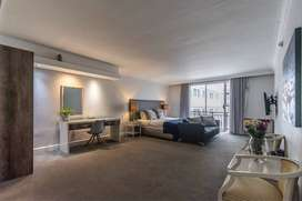 Fully Furnished studio apartment for sale in Cape Town City Centre.