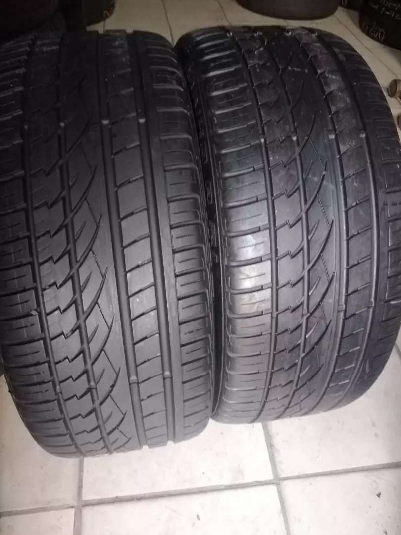 Two seconds hand tyres sizes 265/40/21 continental normal  available