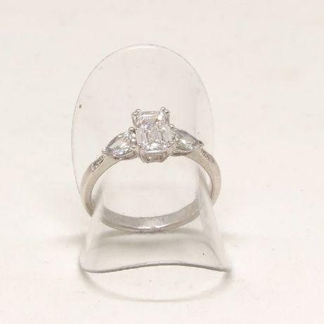 Białe złoto 0,750. Pierścionek z brylantami 1,50 carat. Zaręczynowy. Szczecin - image 1