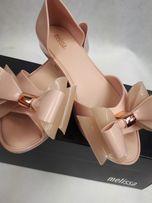 Nowe balerinki MELISSA sedduction jasny róż kokarda 36