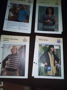 LADIES KNITTING PATTERNS LOT 3