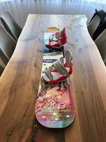 Deska snowboardowa ROXY + wiązania UNION