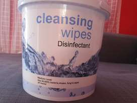 Disinfective wipes 70% alcohol