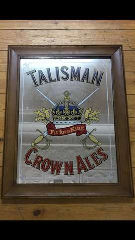 Talisman man cave / bar mirror