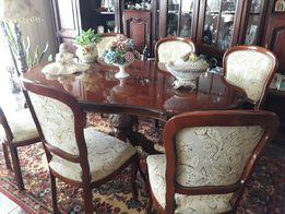 Антикварный стол и 6 стульев