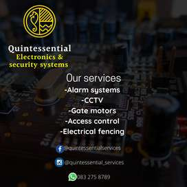 We offer electronics and security system services