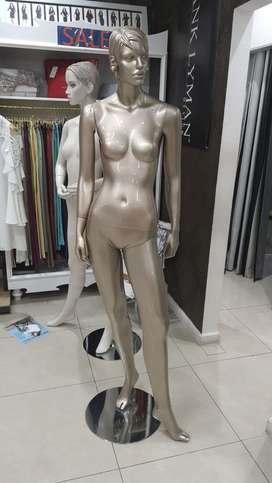 Mannequin, standing, silver