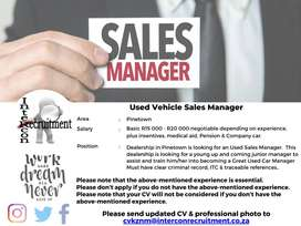 Used Vehicle Sales Manager - Pinetown