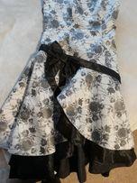 Сукня, плаття вечірнє, випускне чорно-біле, бант