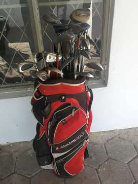 Golf set with pull up cart