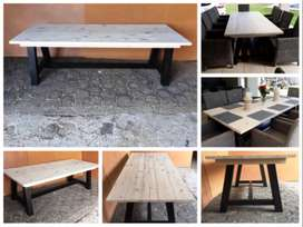 Patio table Chunky Cottage series 2500 A legs - Two tone