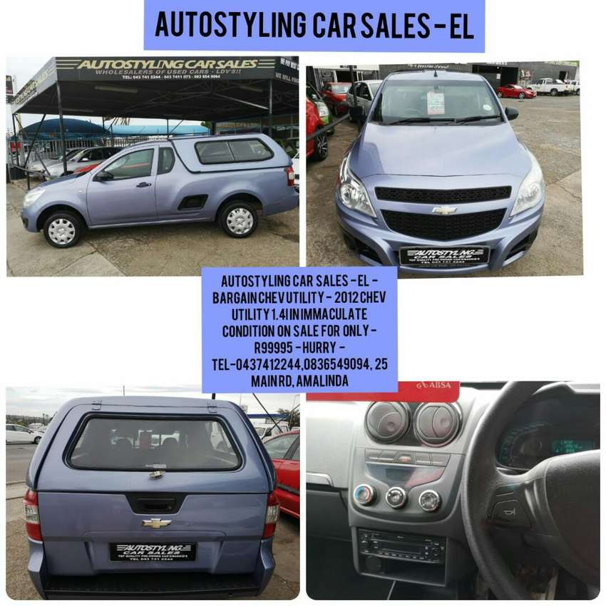 Autostyling Car Sales-EL-2012 Chev 1.4i Ldv On Sale Only R89995 0