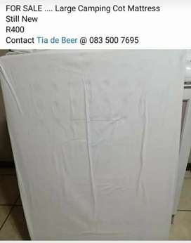 Large Camping Cot Mattress FOR SALE