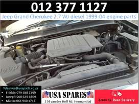 Jeep Grand Cherokee 2.7 WJ 1999-04 used diesel engine parts for sale