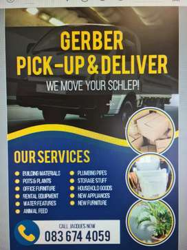 Pickup and Deliver in East Rand and Pta