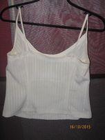 biała bluzka na ramiączkach 38