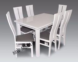 Zestaw ANDRE Biały Połysk! Stół + 6 Krzeseł W Promocji! SPRAWDŹ