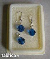 komplet biżuterii z kryształem SWAROVSKI - niebieski