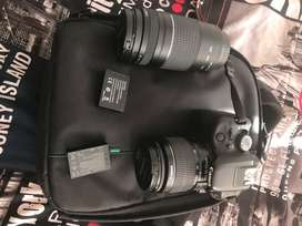 Cannon Touch Screen Camera with 2 lenses and bag