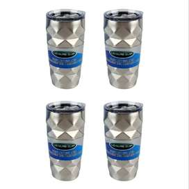 Vacuum Insulated Stainless Steel Tumbler – 500ml (4 Pack)