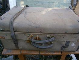 Редкий винтажный чемодан, 2 ручки, ссср, ретро, этикетка, все родное
