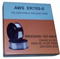 Проволока сварочная омедненная AWS ER70S-6 ∅0.8/1.0/1.2мм (5;15кг)