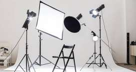 2 Studio lights softbox