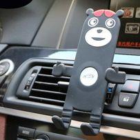 """Samochodowy uchwyt do telefonu max:5.5"""" - kratka nawiewu. Czarny Wawa"""