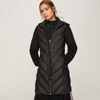 Pikowany płaszcz z kapturem Reserved 42 !!!