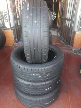 4x205/55/17 continental used tyres still in good condition