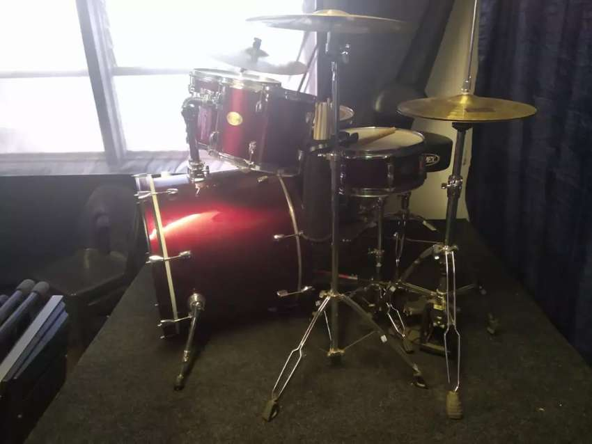 Pearl Double pedal drums set 0