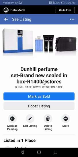 Dunhill perfume set-Brand new sealed in box