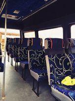 Пошив авто чехлов для автобусов и маршруток, перетяжка сидений