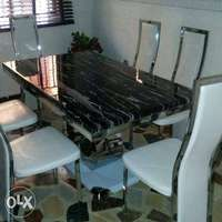Marble Dinning With Marble Base 0