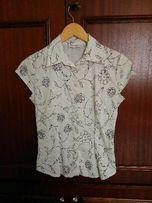 Orsay elegancka biała bluzka 36 koszula damska z kołnierzykiem
